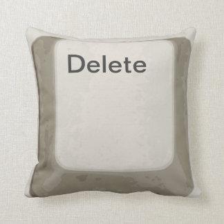 Cancelación/Del Button/almohada blanca/gris de la Almohada