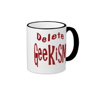 Cancelación Geekism Taza