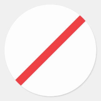cancelled icon round sticker