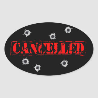 Cancelled Logo Sticker