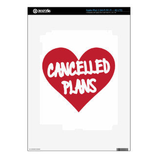 Cancelled Plans iPad 3 Decal