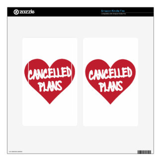 Cancelled Plans Kindle Fire Decal