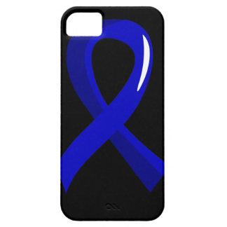 Cáncer anal Blue Ribbon 3 iPhone 5 Fundas