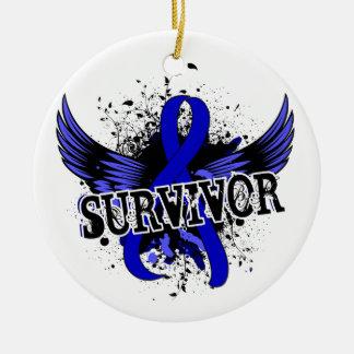 Cáncer anal del superviviente 16 ornaments para arbol de navidad