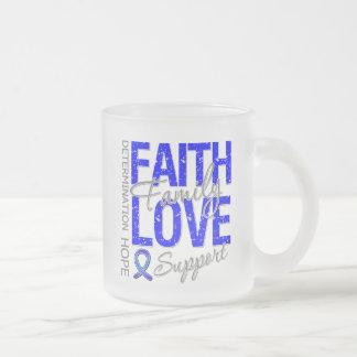 Cáncer anal inspirador del collage del lema del cá taza de café