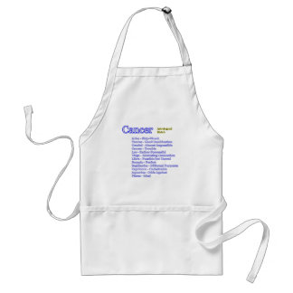 Cancer Astrological Match The MUSEUM Zazzle Gifts Adult Apron