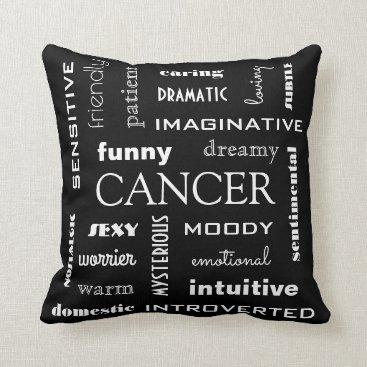 Beach Themed Cancer Astrological Throw Pillow