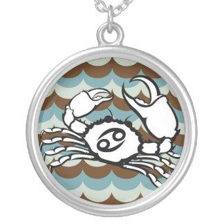 Cancer Astrology Horoscope Neckalce Round Pendant Necklace