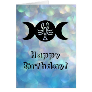 Cancer astrology sun sign zodiac birthday card