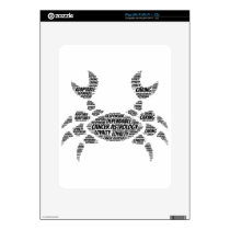 Cancer Astrology Zodiac Sign Word Cloud iPad Skin