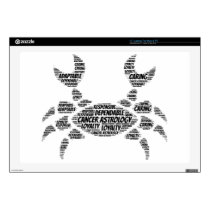 Cancer Astrology Zodiac Sign Word Cloud Laptop Skin
