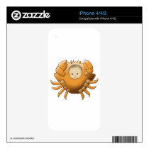 Cancer AstrologyBaby - medium skin - iPhone 4 Decal