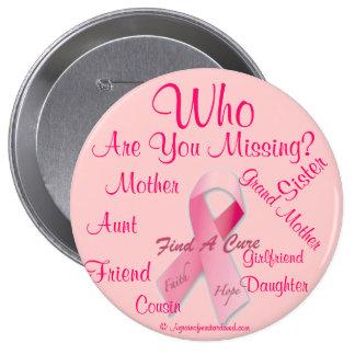 Cancer Awareness 4 Inch Round Button