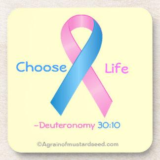 Cancer Awareness Beverage Coaster