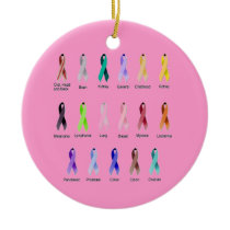 CANCER AWARENESS CERAMIC ORNAMENT