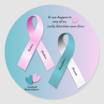 Cancer Awareness Classic Round Sticker