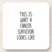 Cancer Awareness  Fight For Cancer Drink Coaster