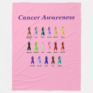CANCER AWARENESS FLEECE BLANKET