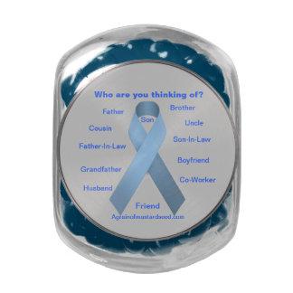 Cancer Awareness Glass Candy Jar