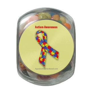 Cancer Awareness Glass Candy Jars