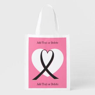 Cancer Awareness  - Grocery, Gift, Favor Bag - SRF Market Tote