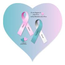 Cancer Awareness Heart Sticker