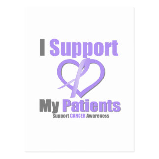 Cancer Awareness I Support My Patients Postcard