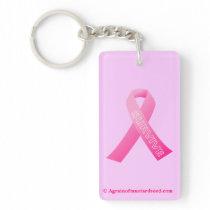 Cancer Awareness Keychain