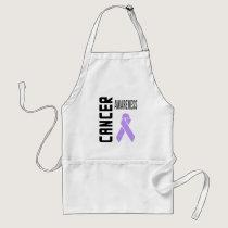 Cancer Awareness Lavender (all cancer) Ribbon Adult Apron