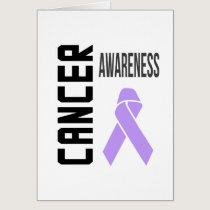 Cancer Awareness Lavender (all cancer) Ribbon Card