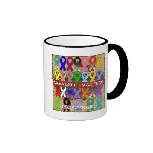 Cancer Awareness Matters - Awareness Ribbons Ringer Coffee Mug