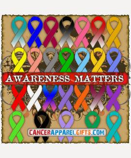 Cancer Awareness Matters - Awareness Ribbons Tee Shirt