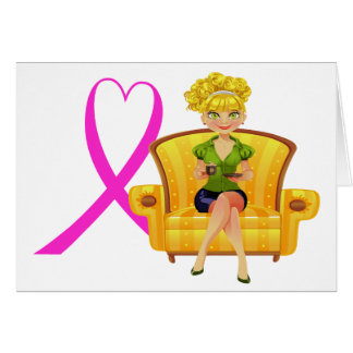 Cancer Awareness Note Card Invitation