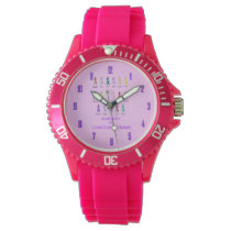 CANCER AWARENESS PERSONALIZE WRIST WATCH