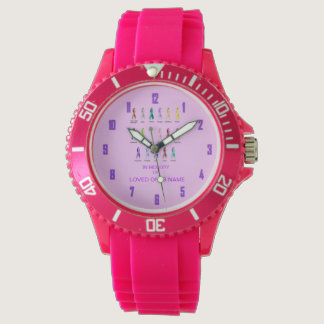 CANCER AWARENESS PERSONALIZE WRISTWATCH