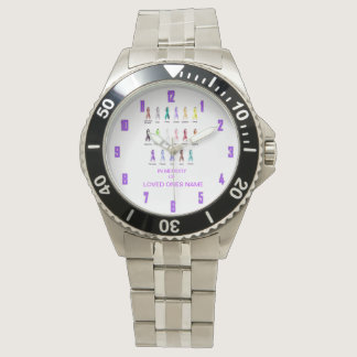 CANCER AWARENESS PERSONALIZED WRIST WATCHES