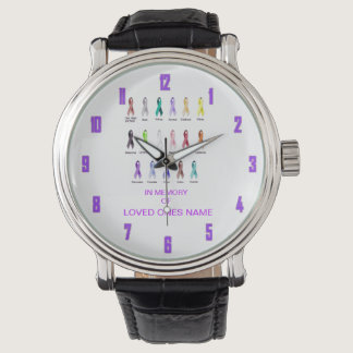 CANCER AWARENESS PERSONALIZED WRISTWATCHES