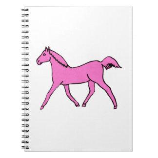 Cancer Awareness Pink Horse Notebook