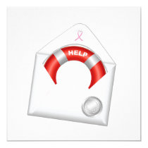 Cancer Awareness - Pink Ribbon Invitation