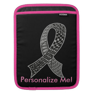 Cancer Awareness Ribbon Custom Colors Sleeves For iPads