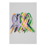 Cancer Awareness Ribbons Custom Stationery