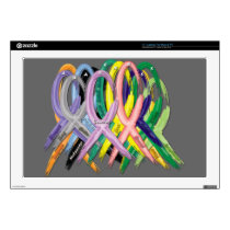 Cancer Awareness Ribbons Decals For Laptops