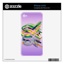 Cancer Awareness Ribbons iPhone 4S Skins