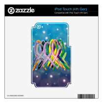 Cancer Awareness Ribbons iPod Touch 4G Decal