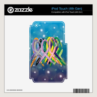 Cancer Awareness Ribbons iPod Touch 4G Skins