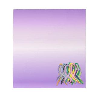 Cancer Awareness Ribbons Notepad