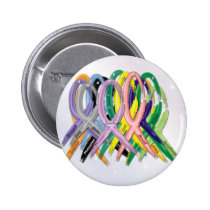 Cancer Awareness Ribbons Pinback Button