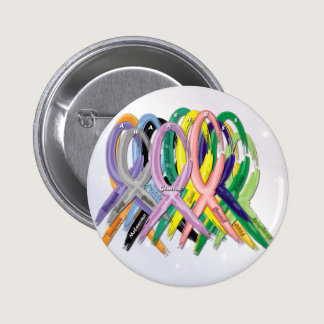 Cancer Awareness Ribbons Pinback Button