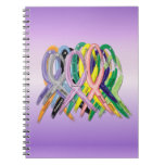 Cancer Awareness Ribbons Spiral Notebooks