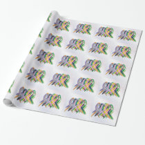 Cancer Awareness Ribbons Wrapping Paper